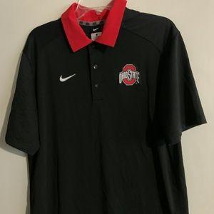 Nike Ohio State Polo / Golf Shirt , size Large